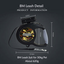 Load image into Gallery viewer, 8M Retractable Dog Leash with LED Light