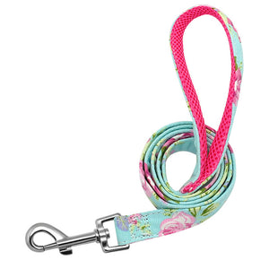 6 Colors Dog Leash Lead Nylon Printed Pet Puppy Walking Leash Mesh Padded Running Training Leashes Rope For Small Medium Dogs