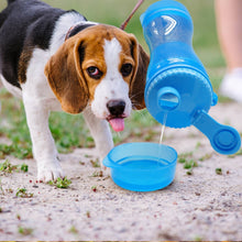 Load image into Gallery viewer, 2 in 1 Portable Pet Dog Water Bottle Food Container For Small Large Dogs Travel Drinking Bowl Outdoor Pet Water Dispenser Feeder