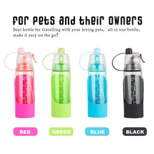 Load image into Gallery viewer, 600ml Dog Water Bottle Portabal Travel Pet Puppy Cat Water Dispenser Feeder Dog Bowl For Small Medium Dogs Cats Drinking Outdoor