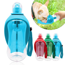 Load image into Gallery viewer, 550ml Pet Dog Water Bottle Plastic Dog Cat Bowl Cup Portable Travel Dog Feeder Pets Puppy Cats Drinking Water Dispenser Outdoor