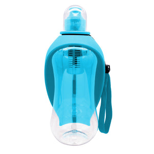550ml Pet Dog Water Bottle Plastic Dog Cat Bowl Cup Portable Travel Dog Feeder Pets Puppy Cats Drinking Water Dispenser Outdoor