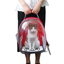 Load image into Gallery viewer, Breathable Pet Cat Carrier Bag Transparent Space Pets Backpack Capsule Bag For Cats Puppy Astronaut Travel Carry Handbag Outdoor