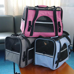 Portable Cat Bag Backpack Breathable Mesh Pet Puppy Cat Carrier Bags Foldable Outdoor Travel Bag For Small Pets Dog Cats Handbag