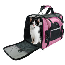 Load image into Gallery viewer, Portable Cat Bag Backpack Breathable Mesh Pet Puppy Cat Carrier Bags Foldable Outdoor Travel Bag For Small Pets Dog Cats Handbag