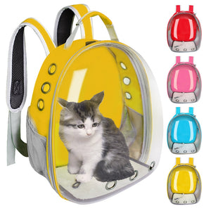 Breathable Pet Cat Carrier Bag Transparent Space Pets Backpack Capsule Bag For Cats Puppy Astronaut Travel Carry Handbag Outdoor