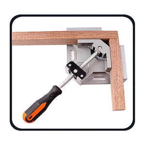 Woodworking  Single Handle 90° Aluminum Alloy Corner Clamp,Right Angle Clip Clamp Tool Woodworking Photo Frame Vise Welding Clamp Holder with Adjustable Swing Jaw.