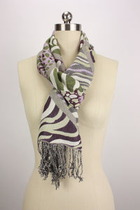 Animal Fringed Scarf