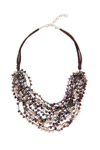 Mardi Beaded Statement Necklac