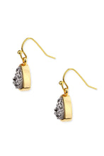 Load image into Gallery viewer, Triangle Dangle Druzy Earring