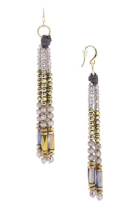 Sangria Beaded Tassel Earring