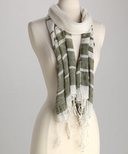 Two Toned Striped Scarf