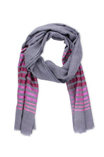 Load image into Gallery viewer, Metallic Striped Scarf
