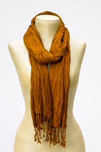 Load image into Gallery viewer, Pleated Fringe Scarf