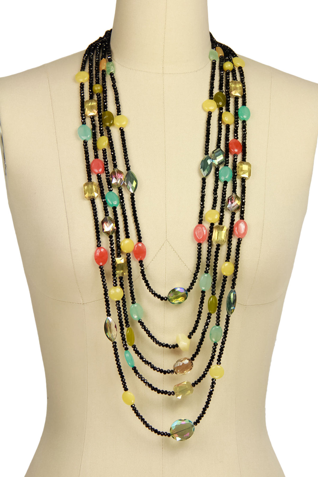 Multi Stone Statement Necklace