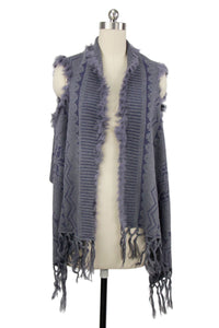 Fur Cover Up Vest
