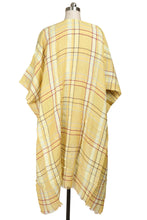 Load image into Gallery viewer, REVERIE PLAID KIMONO GOLDENROD