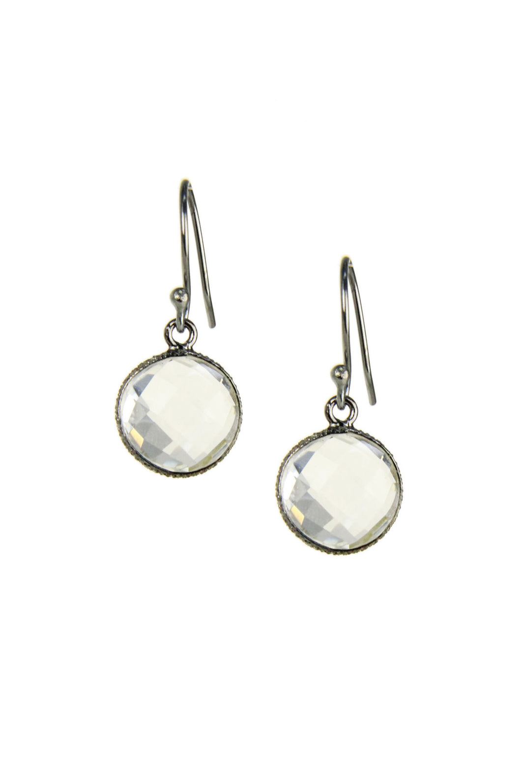 Round Gemstone Dangle Earring