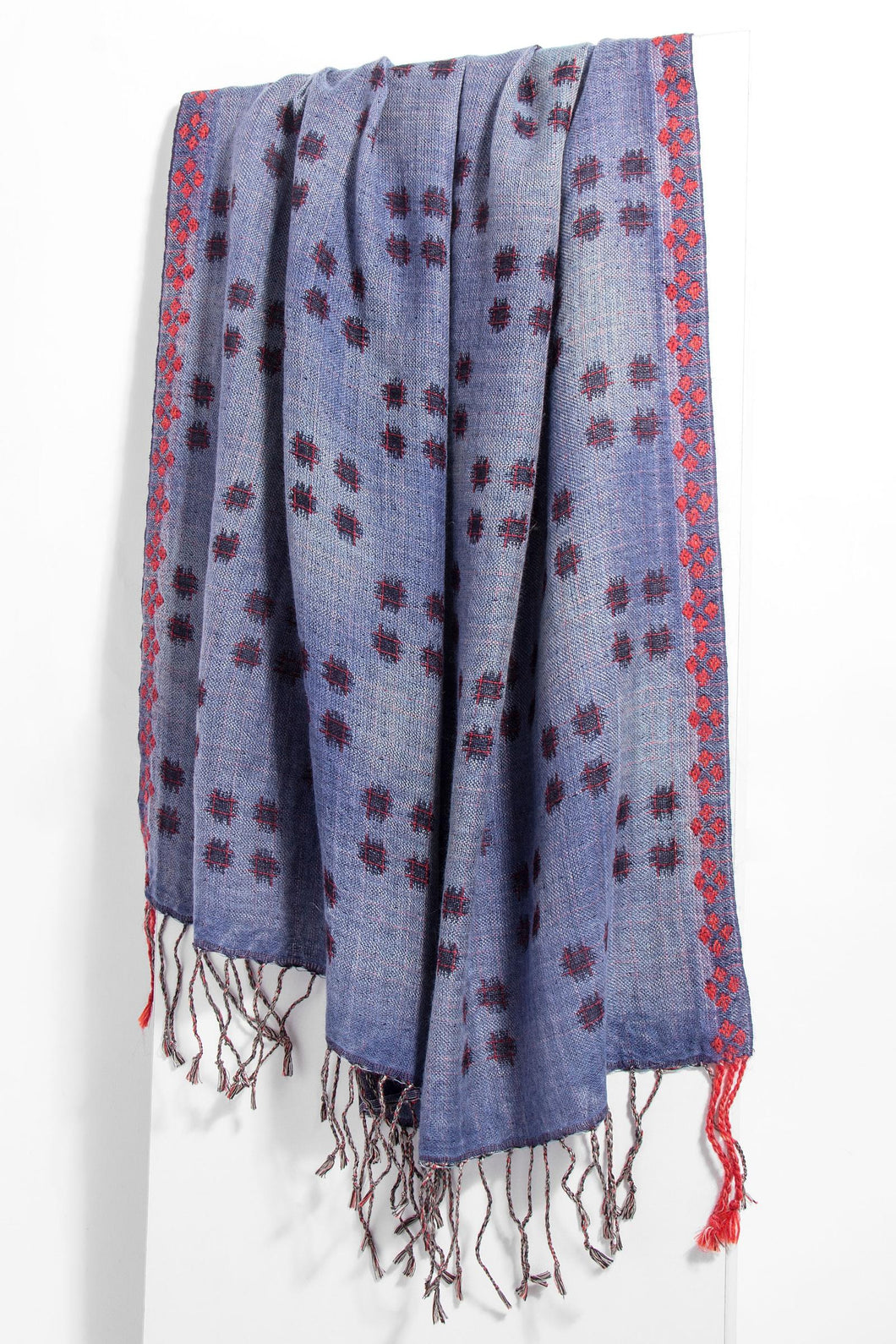 Wild Berry Checkered Scarf