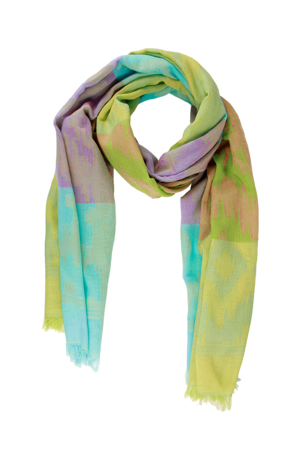 Ikat Multi Block Scarf