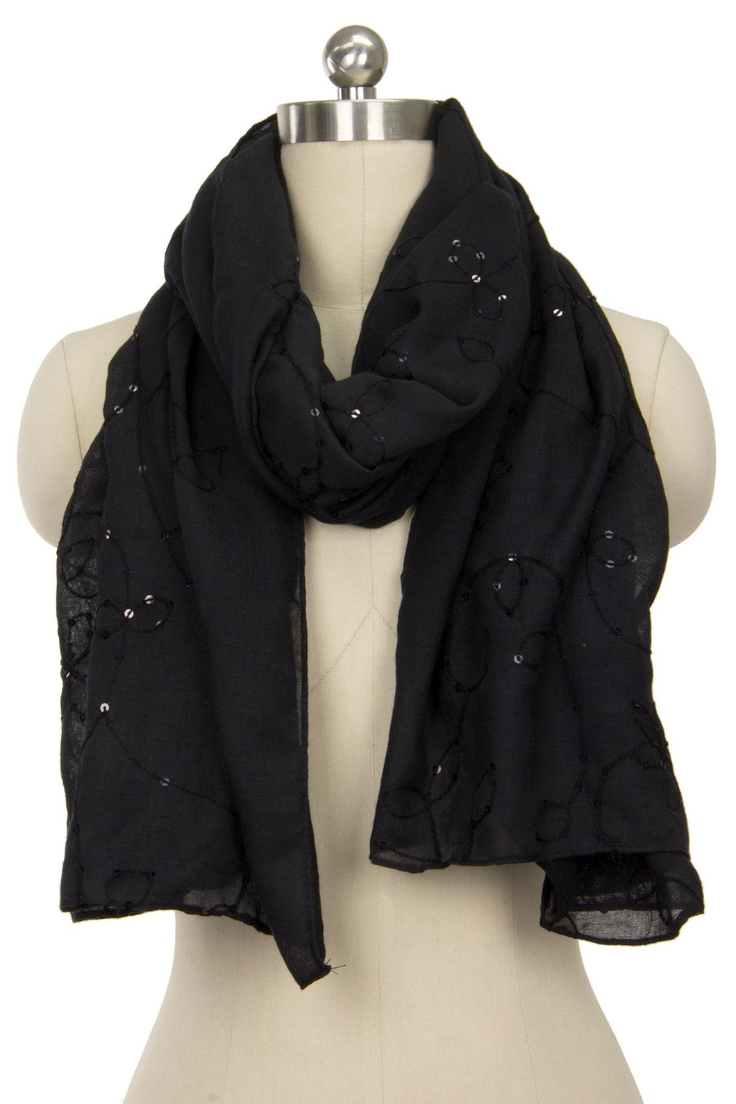 Ines Embroidered Scarf