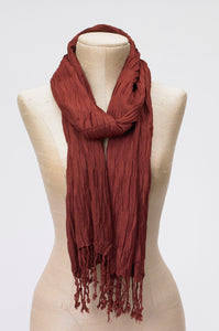 Pleated Fringe Scarf