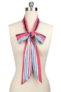 Skinny Striped Scarf