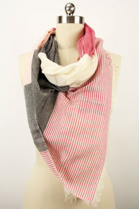 Zinnia Striped Scarf