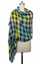 Load image into Gallery viewer, Coney Colored Plaid Scarf