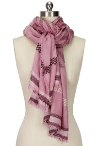 Multi Geometric Striped Scarf