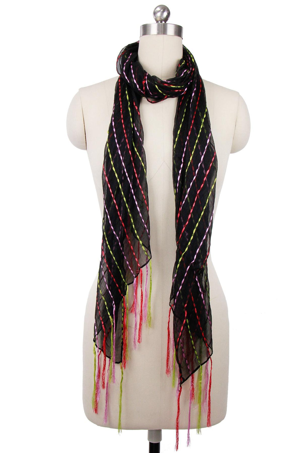 Rio Silk Scarf with Tassel