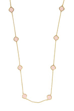 Load image into Gallery viewer, Rose Quartz Gold Drop Necklace