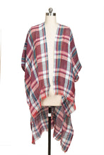 Load image into Gallery viewer, REVERIE PLAID KIMONO TERRACOTT