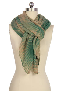 Two Toned Faded Plaid Scarf
