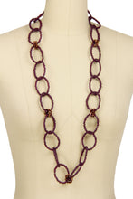 Load image into Gallery viewer, Beaded Linked Circle Drop Neck