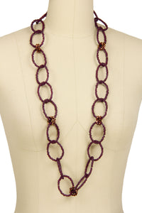 Beaded Linked Circle Drop Neck
