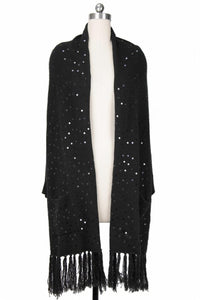 Party Sequined Pocket Kimono