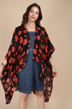 Load image into Gallery viewer, Poppy Field High-Low Kimono