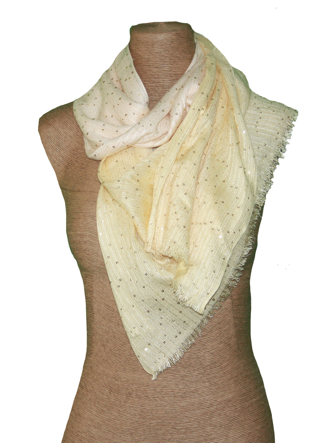 Embellished Sequinned Scarf w/