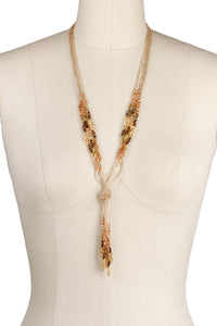 Rhodes Knot Beaded Necklace