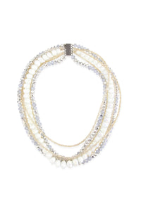 Lunar Beaded Collar Necklace