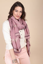 Load image into Gallery viewer, Multi Geometric Striped Scarf