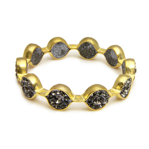 Marquis Gold Bangle Bracelet