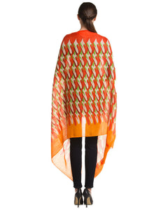 Colorblock Printed Wrap