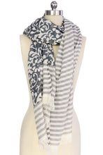 Load image into Gallery viewer, Penelope Paisley Striped Scarf