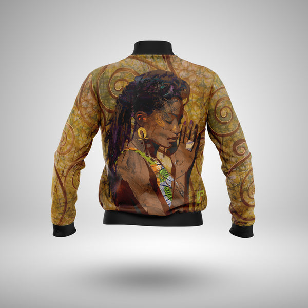 Divine Discussion ~ Women's Bomber Jacket • LE60