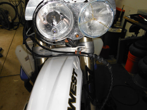Routing front brake lines for rally fairings | Rally Moto Shop