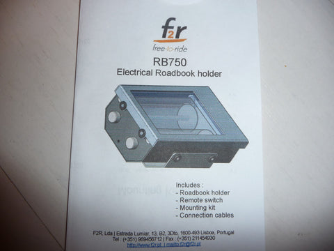 F2R RB750 Rally Roadbook Reader with LED light