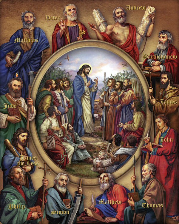 12 APOSTLES P - CATHOLIC PRINTS PICTURES