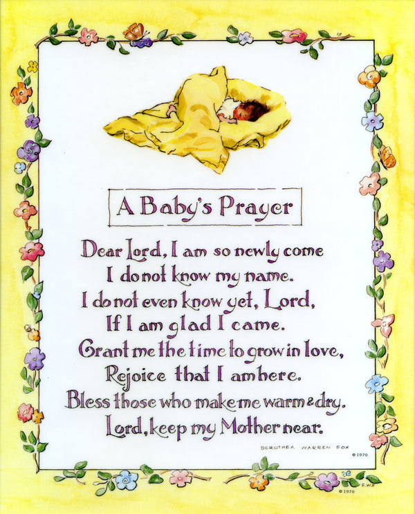 A BABY'S PRAYER - CATHOLIC PRINTS PICTURES
